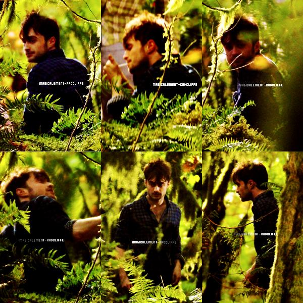 """01/10/12 : Daniel sur le tournage de """"Horns"""""""