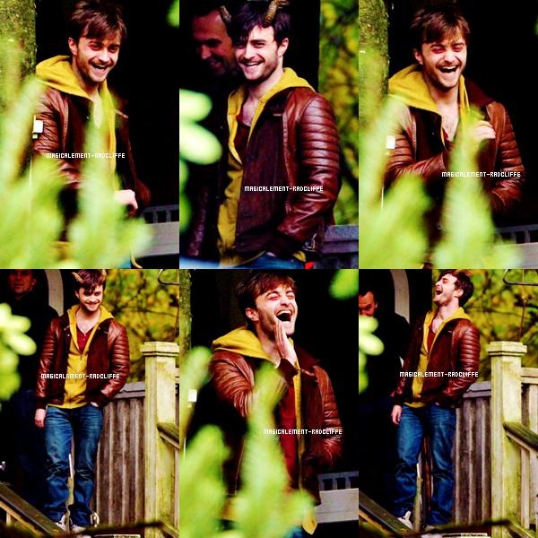 """02/11/12 : Daniel sur le tournage de """"Horns"""""""