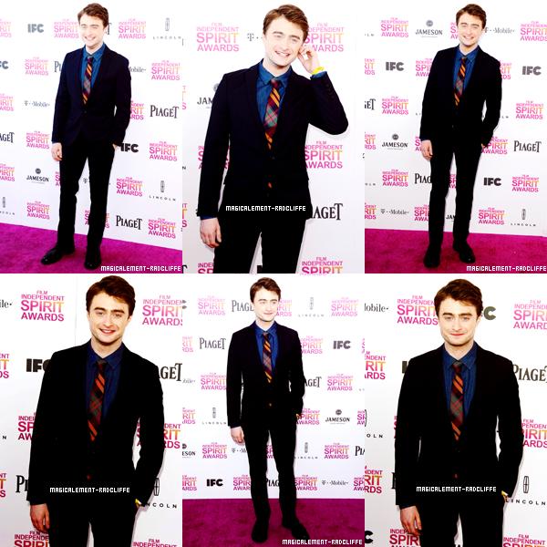 23/02/13 : Dan était présent au Film Independent Spirit Awards 2013