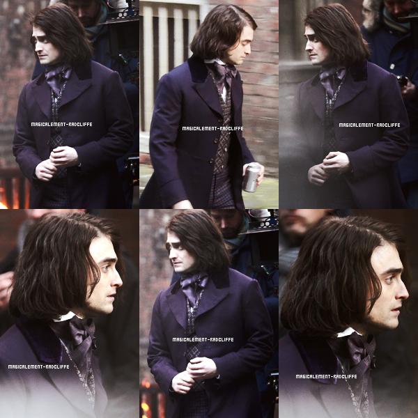 01/12/13 : Daniel sur le tournage de Frankenstein