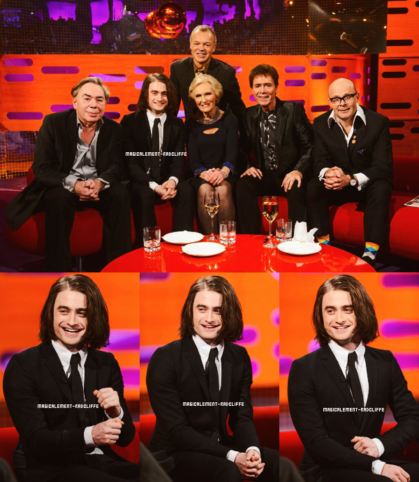 "06/12/13 : Daniel à l'émission ""The Graham Norton Show"""