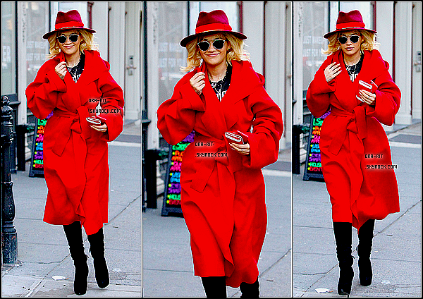 • 10 NOVEMBRE 2014 - CANDIDS & PHOTOSHOOT - NEW-YORK CITY Rita a été aperçue ce lundi sortant d'un salon de coiffure.  Découvrez ou redécouvrez certaines photos de Rita pour le photoshoot de Cosmopolitan.