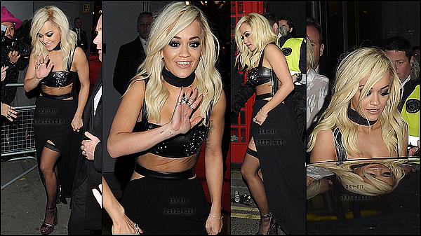 •• 1 DECEMBRE 2014 - EVENT - LONDRES Rita a été au lancement de Rimmel Colourfest, puis, elle s'est rendue au British Fashion Awards et a quitter les lieux.
