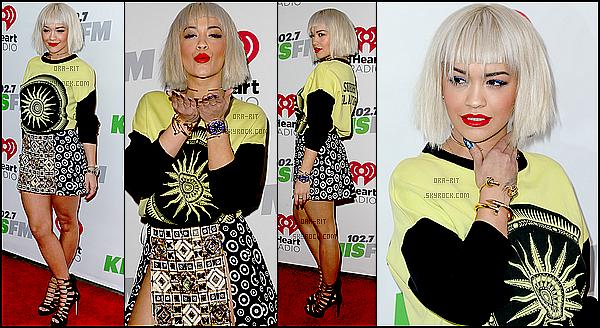 ● 5 DECEMBRE 2014 - EVENT - LOS ANGELES Ce vendredi, Rita était présente au KIIS FM Jingle Ball 2014 qui s'est déroulé au Staples Center.