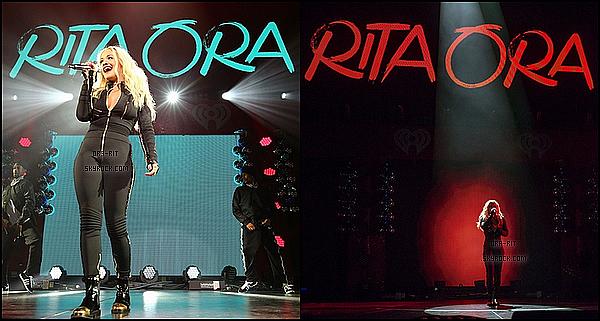 • 9, 10 DECEMBRE 2014 - EVENT - PHILADELPHIE/LOS ANGELES Rita, mardi, a été interviewé pour les Grammy U par Chaka Khan. Ensuite, mercredi, elle s'est rendue au Q102's Jingle Ball au Wells Fargo Center (Philadelphie, Pennsylvanie) ou elle a interprété quelques chansons notamment Black Widow en compagnie d'Iggy Azalea.
