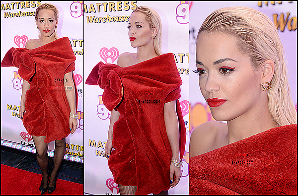 • 15 DECEMBRE 2014 - APPEARANCE - WASHINGTON DC Rita a été présente au Hot 99,5's Jingle Ball 2014.