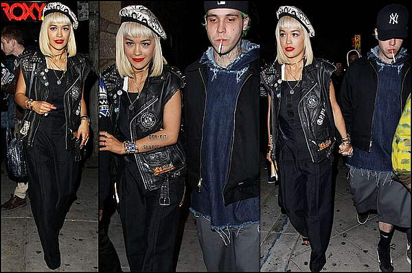 • 22 DECEMBRE 2014 - CANDIDS - WEST HOLLYWOOD Rita a été aperçue en compagnie de Ricky Hill quittant le club The Roxy.