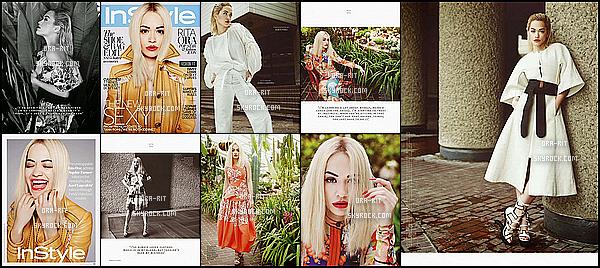*03/03/15 - Voici la suite du photoshoot de Rita pour InStyle UK Magazine. Rita est radieuse et a beaucoup de prestance. J'aime beaucoup sa façon de poser. *