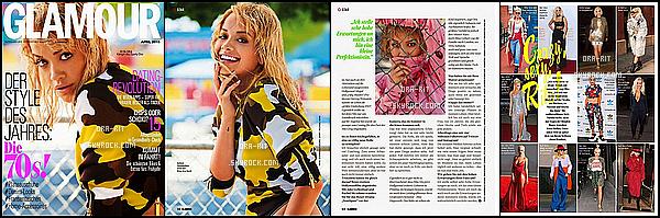 *21/04/15 - Rita fait la couverture du mois d'avril du magazine GLAMOUR Germany. Je trouve ça dommage qu'ils aient réalisés cette couverture avec un photoshoot déjà existant de Rita, mais elle reste magnifique. *