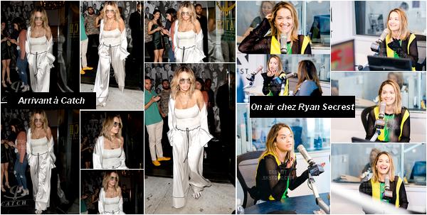 *13/07/17 - Rita est sortie en boîte de nuit au nightclub Catch dans West Hollywood. Quelques heures plus tard, dans la matinée, elle était chez Ryan Secrest pour une interview radio à Los Angeles. **