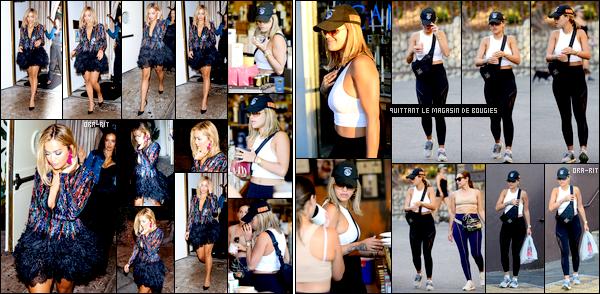 *03/08/17 - Rita Ora a été aperçue dans une boîte de nuit nommée Delilah dans West Hollywood. Le lendemain, Rita Ora a été vue arrivant dans une boutique de bougies et la quittant. La tenue est plutôt simple mais cela reste tout de même bien. **