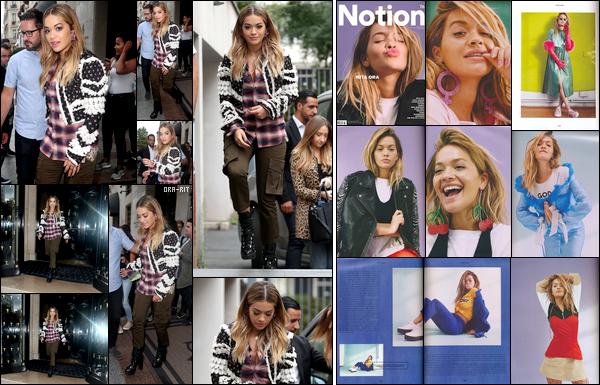 *04/09/17 - Rita Ora a été aperçue alors qu'elle quittait son hôtel situé à Paris. De plus, je vous laisse découvrir les photos du magazine NOTION n°76 où Rita fait la couverture. Superbe!  **