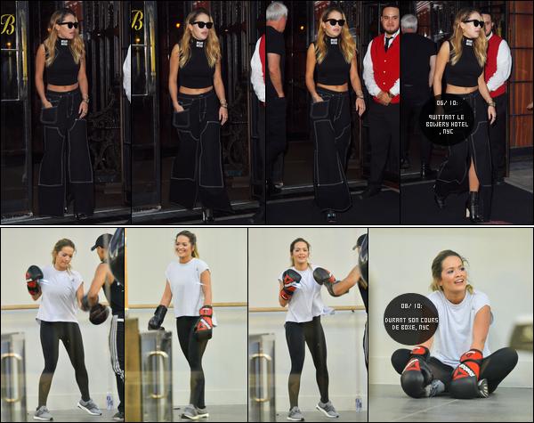 *06/10/17 - Rita Ora a été photographiée, quittant son hôtel «Bowery Hotel» de New-York City. Le 08/10, Rita a été photographiée alors qu'elle réalisait son cours de boxe à New-York City. Je la trouve très mimi sur les 2 candids!**