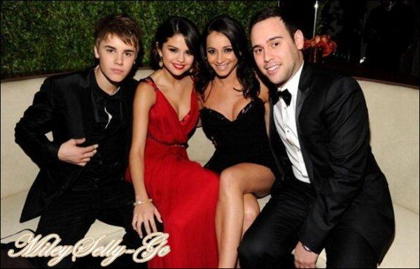 Selena s'est rendue aux Vanity Fair Oscar Party en compagnie de Justin Bieber !