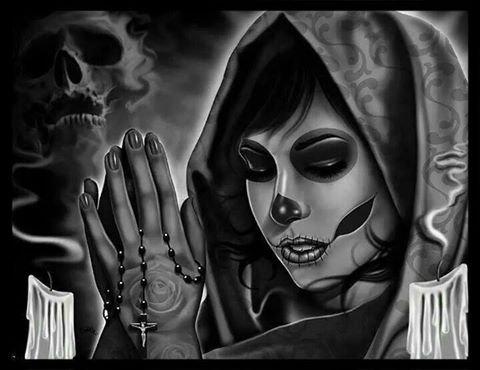 clin d'oeil sister je te lègue et dédicaces cet article passait inaperçu la  Santa Muerte mégabises Brother devils j'ai toujours kiffer sans phénomènes de mode