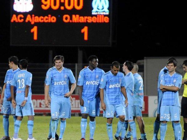 Ajaccio - OM : Marseille s'incline aux tirs au but