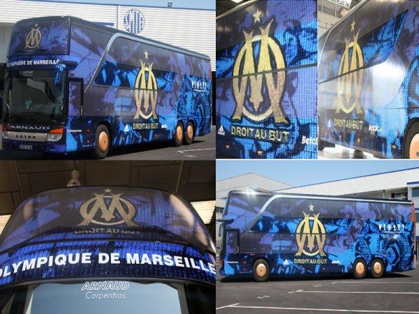 Un bus entièrement décoré OM pour les Olympiens !