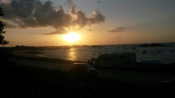 Petit coucher de soleil en bretagne
