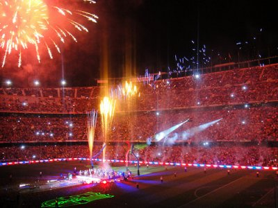FEU D ARTIFICE AU CAMP NOU