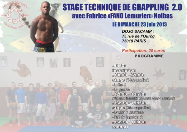 STAGE DE GRAPPLING DE FABRICE NOLBAS À PARIS