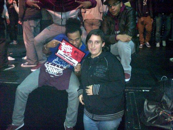 Moi Avec Un Danseur D'Un Crew Au Concours Hip-Hop Organisé Par Le Secteur 7