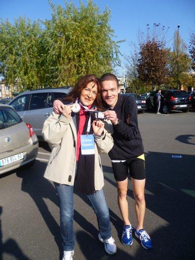 Médaille nationale en argent au France de semi-marathon