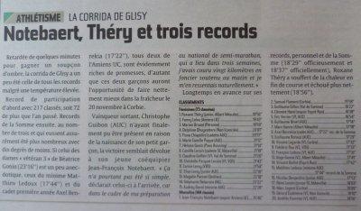 Corrida de Glisy - presse