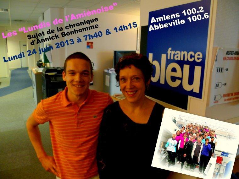 """""""Les Lundis de l'Amiénoise"""" sur France Bleu Picardie..."""