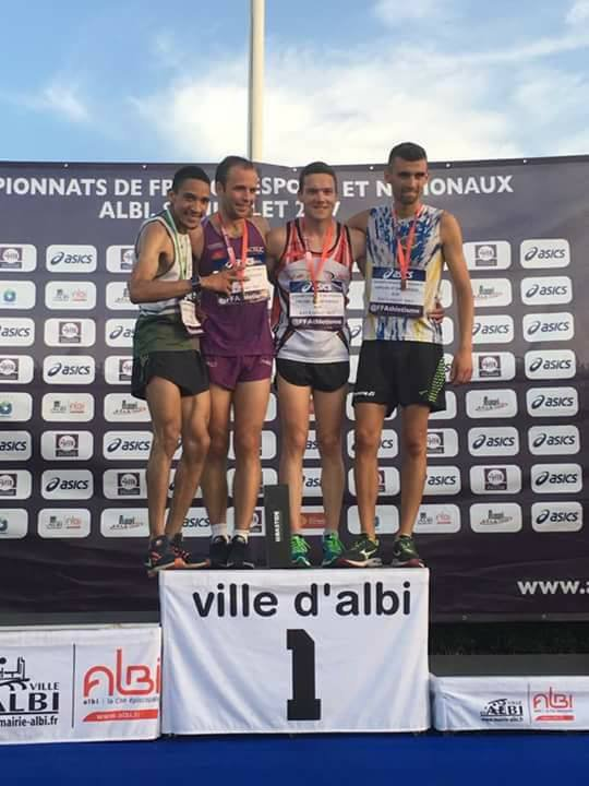 Champion de France National FFA 5000 m. piste - Albi, 8 juillet 2017