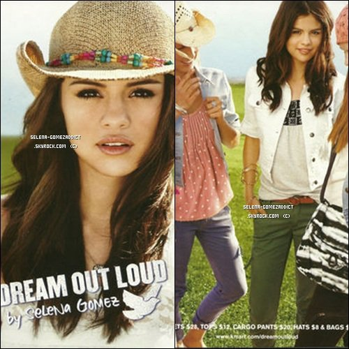 "Affiches publicitaires pour ""Dream out loud""."