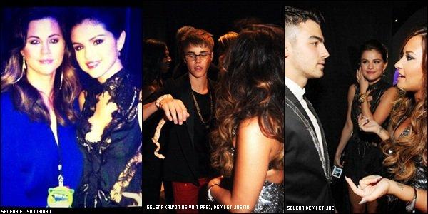 _ 28 août : hier, c'était les VMA 2011, Selena présentait le red carpet. Ci-dessous, deux photos prises pendant les répétitions, où Justin se faisait passer pour les stars, puis le red (noir) carpet. Je posterais des vidéos dès qu'il y en aura !Top ou Flop ? _