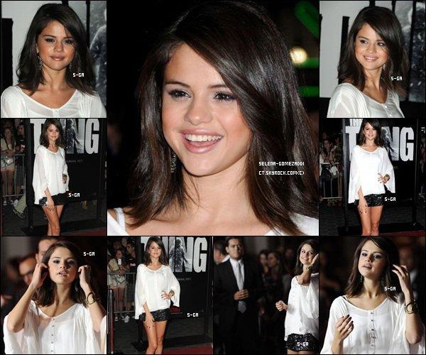 """_ 10 octobre : Selena, très belle, était à l'avant première du film d'horreur """"The things"""".Top ou Flop ? _"""