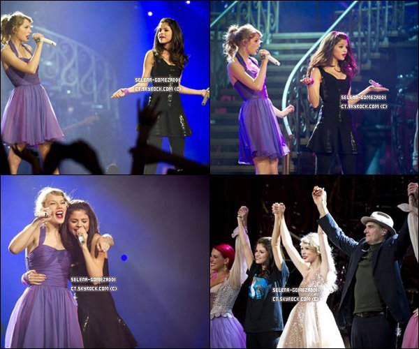 _ 22 novembre : Taylor Swift cloturait sa tournée au fameux madison square garden, et elle a invité Selena a chanté Who says !.Top ou Flop ? _