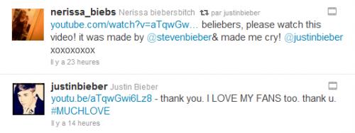 Vidéo d'un Belieber pour Justin