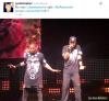 Justin au concert de Kanye West