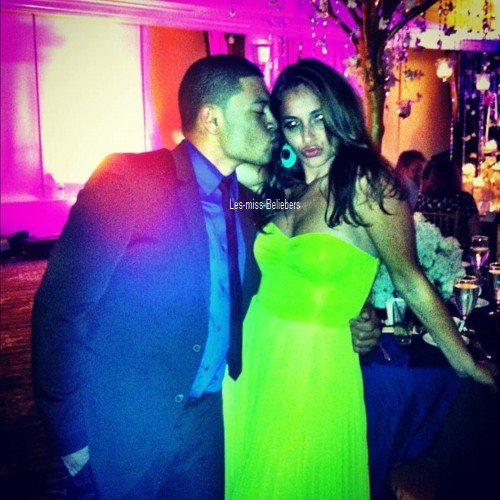 Justin au mariage d'Allison Kaye