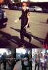 Justin avec ses fans à Los Angeles