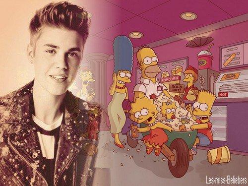 Justin bientôt dans un épisode des Simpsons