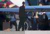 Justin sur un vol privé à Los Angeles