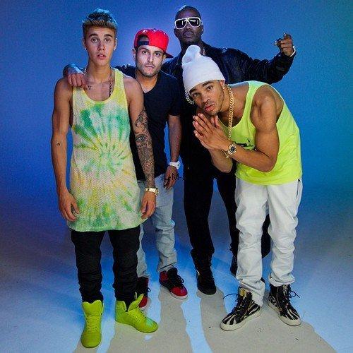Justin sur le set de la vidéo de Lolly