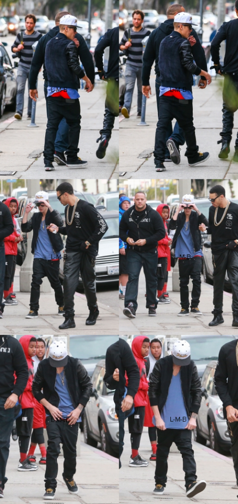 Justin faisant du shopping hier à Venice Beach
