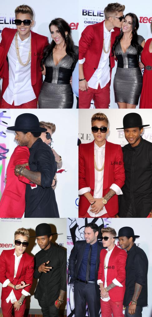 Justin sur le tapis de la première de Believe
