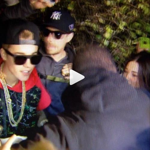 Justin avec les fans à Miami