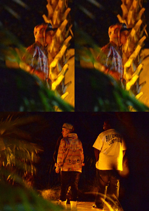 Justin avec son entourage à Miami