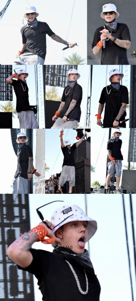 Justin au Coachella Valley Music & Arts Festival en Californie