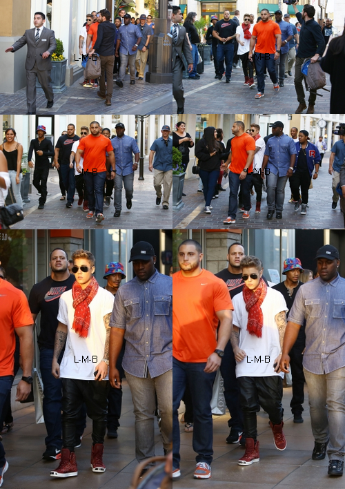 Justin et son entourage en sortie à Los Angeles