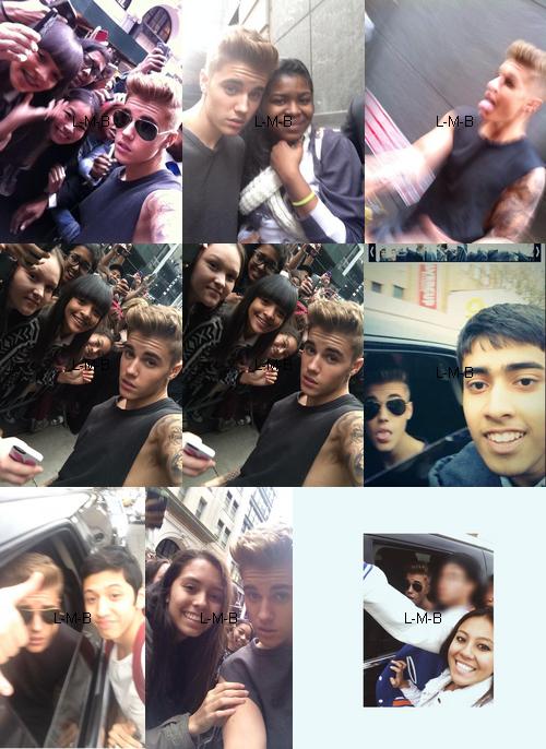Justin avec les fans à New York