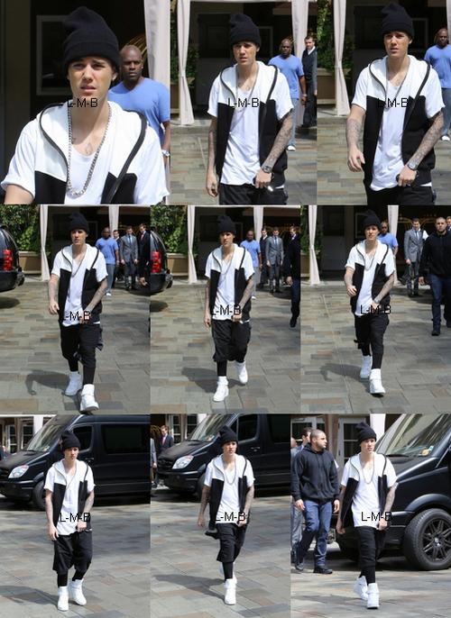 Justin avec les fans à Beverly Hills