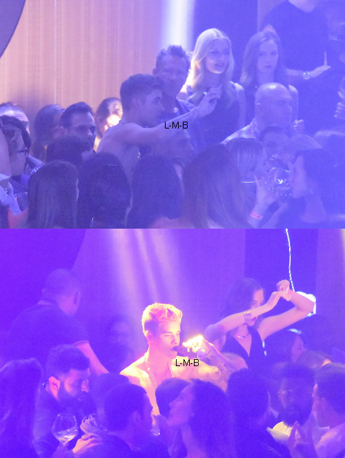 Justin dans un club à Cannes