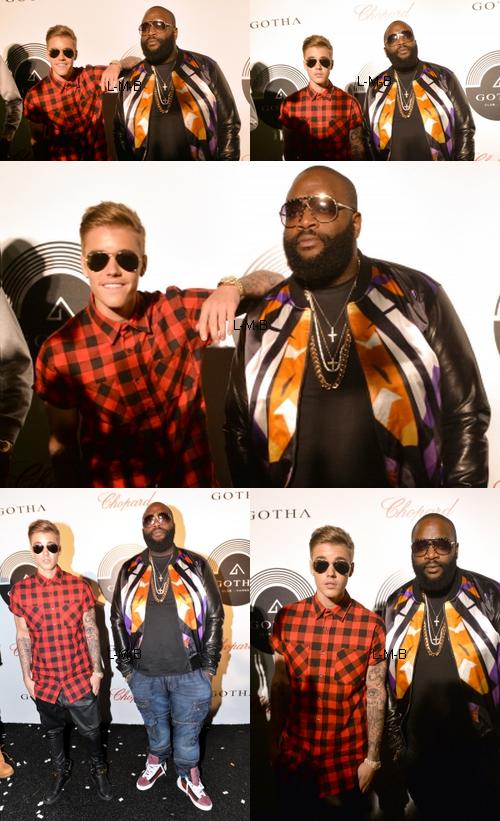 Justin avec Rick Ross au Club Gotha à Cannes
